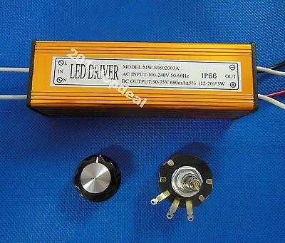 12-20x3w Led Dimmable Driver For Aquarium Grown Light Bulb Driver With Dimmer