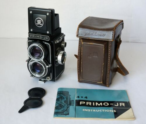 Vintage Primo-Jr 4 X 4 TLR Film Camera With Topcor F 2.8 6cm Lens Barely Used
