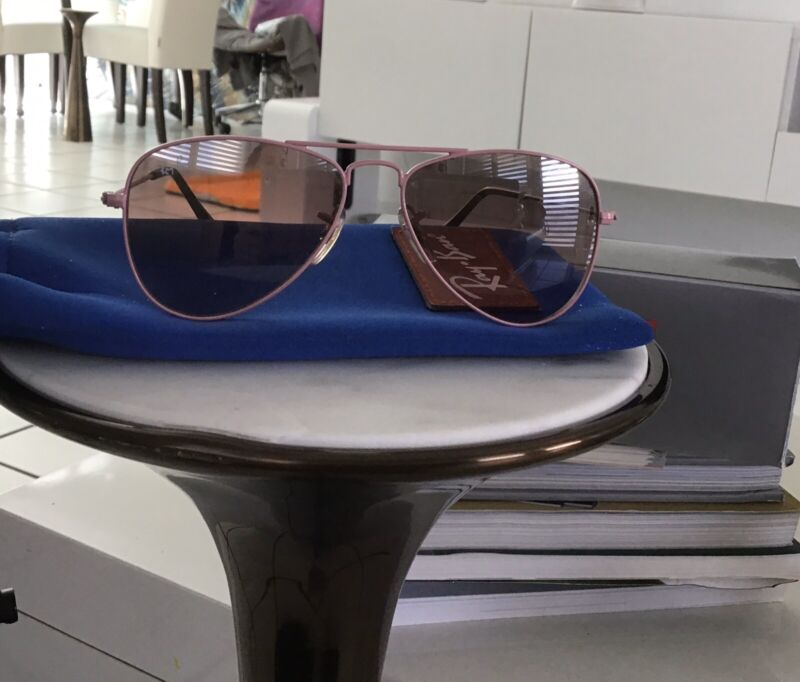 Ray-Ban Jr Kids RJ 9506S 211/7E 50 13 2N Pink Silver Mirror Sunglasses Girl