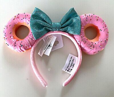 Disney Parks Mickey Minnie Mouse Bow Donut with Sprinkles Ears Headband NEW