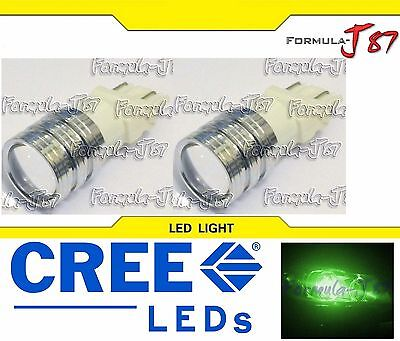 LED Light 5W 3157 Green Two Bulbs Front Rear Turn Signal Parking Drive Side