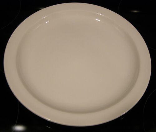 "Midwinter Ironstone Stonehenge White 10 1/2"" Dinner Plate England"