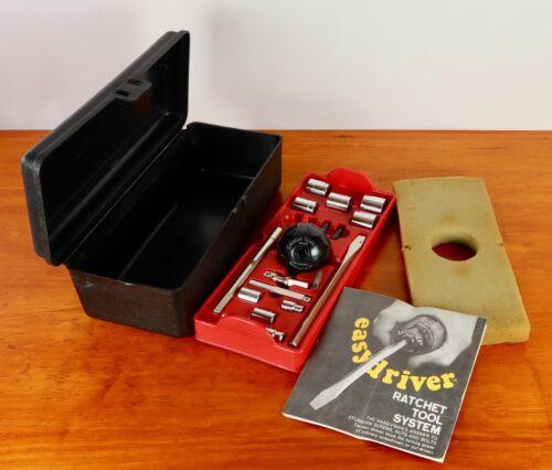 Vintage Creative Tools Ratchet Ball Easydriver Screwdriver Set in Case USA