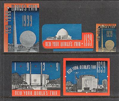 US NEW YORK WORLD'S FAIR 1939 LABELS POSTER STAMPS