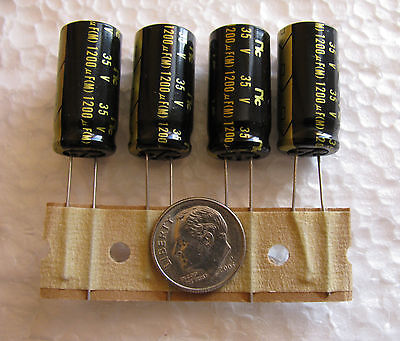 4 Pcs Nic Components 1200uf 35v Nrsx Low Impedance 105 Electrolytic Capacitors