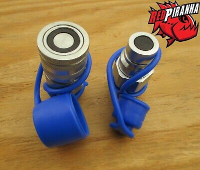 12 Npt Flat Face Hydraulic Quick Coupler Coupling Set Bobcat Skid Steer Hydro