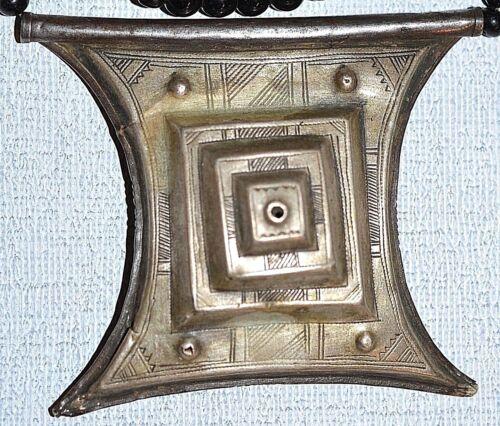 Antique Tuareg Talisman Tcherot Pendant Necklace Protective African Amulet Niger