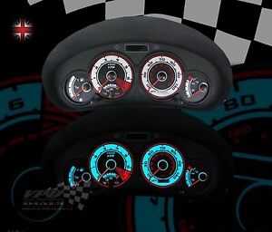 Peugeot 206 GTI 2.0 speedo dash panel interior custom lighting dial kit car