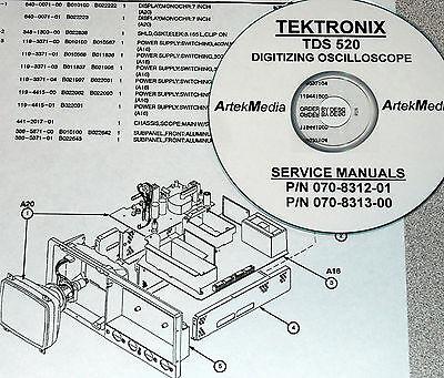Tek Tds520 Service Extended Service Schematics-2 Vol