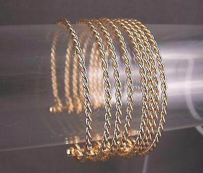 gold tone 8-strand twist twisted rope metal bangle cuff 1