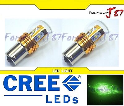LED Light 25W 1156 Green Two Bulbs DRL Daytime Running Replacement Show Use JDM
