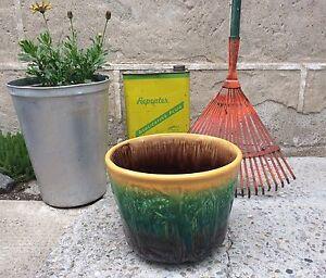Vintage Majolica Large Planter
