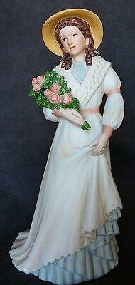 HOMCO Figurine CHARLOTT ROSE #1468 Porcelain VICTORIAN LADY Roses Home Interiors