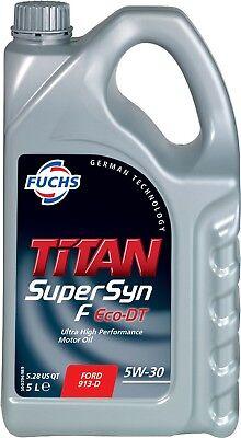 FUCHS TITAN SUPERSYN F ECO-DT 5W-30 ENGINE OIL LUBRICANT 5 LITRES ACEA A1/B1