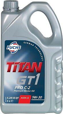 FUCHS TITAN GT1 PRO C-2 5W-30 ENGINE OIL LUBRICANT 5 LITRES ACEA C2