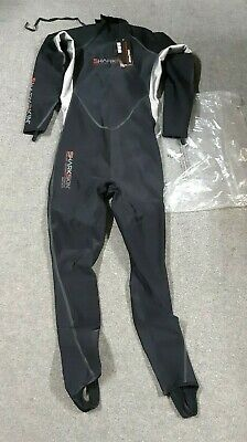 Sharkskin Covert Stinger Rapid Dry Suit w// HECS Size 4XL Scuba Snorkel Spearfish