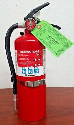 5lb Fire Extinguisher Abc Dry Chemical Rechargeable First Alert 3-a40-bc -