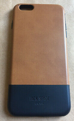 USED EXCELLENT CONDITION JACK SPADE APPLE iPHONE 6s PLUS PHONE CASE TAN+NAVY