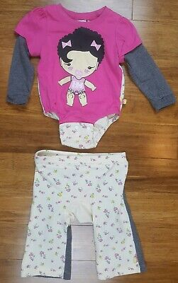 Harajuku Mini for Target Two piece waffle knit outfit size 9 Months