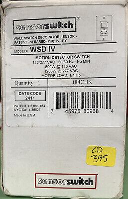 Nib-sensorswitch Model Wsd Iv Motion Detector Switch 12027