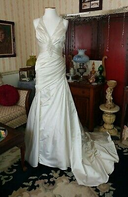 La Sposa Wedding Gown Size 6 US Long Satin Beaded Dress Discontinued  for sale  Bear