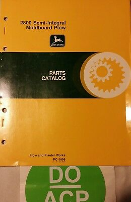 John Deere 2800 Semi-integral Moldboard Plow Parts Catalog  R3s27
