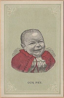 Victorian Trade Card  Our Pet  Soap Summit City Soap Co Fort Wayne  In Baby