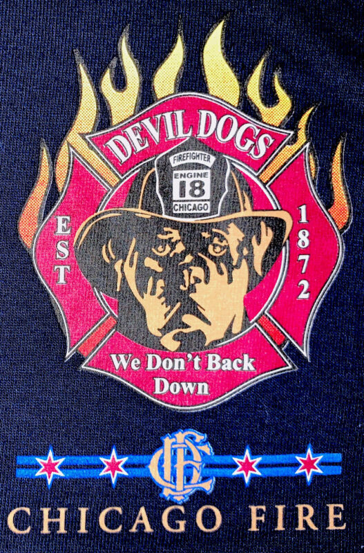 Chicago Fire Department CFD Cook County Illinois  IL T- Shirt  Sz L FDNY LAFD