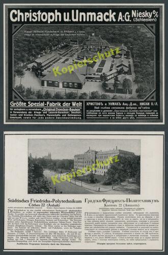 Bauwesen Wilhelm II. Adel Ahlbeck Kinderheim Ostsee Unmack Niesky Sachsen 1916