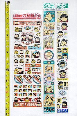 LOT of 3 Cute Collectible Scrapbook Stickers (Vampire, Puppy, Pig, Boy, Girl)](Vampire Puppy)