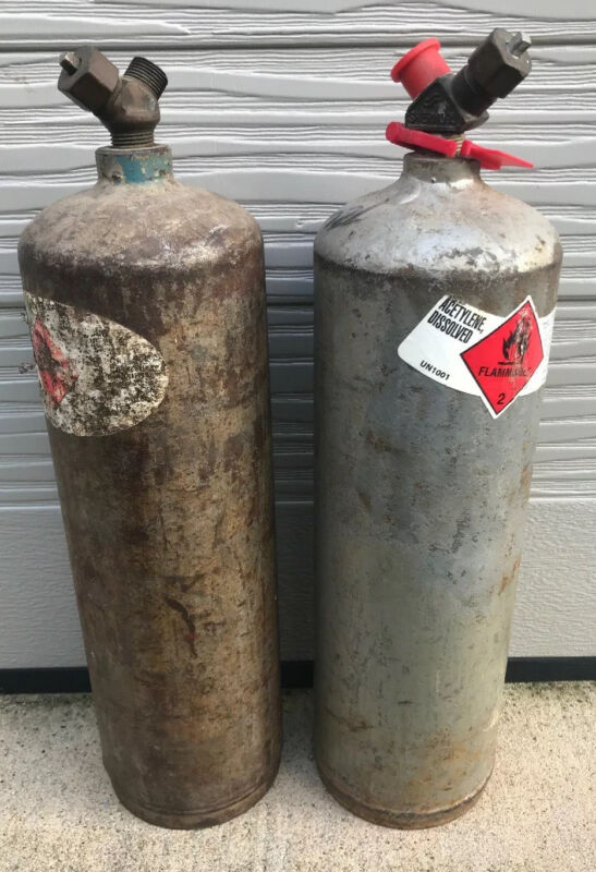 Acetylene Cylinder Tank Used 10cf Lot of 2  (Pick Up Allen Texas 75002)