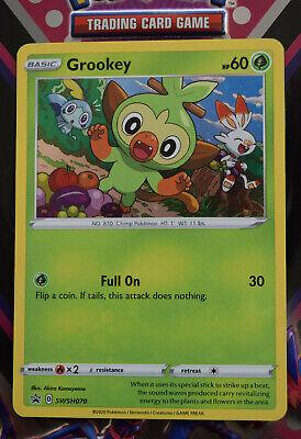 Pokemon TCG Black Star Promo - Grookey #SWSH070 Holofoil PROMO Card - Pack Fresh
