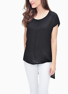 Splendid Scoop Neck Tunic Top - SPLENDID Women's Scoop Neck Cap Sleeves Hi-Lo Hem Tunic Top, size XS Color Black