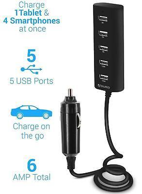 USB Car Charger  5 Port multiple power station  For Apple Samsung LG PSP Tablet