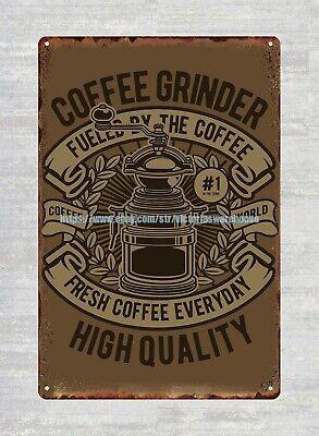 outdoor home decor online coffee grinder metal tin sign