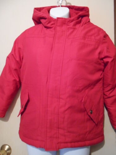 Gymboree Boys Hooded Fleece Lined Winter Jacket/coat Red M/7-8