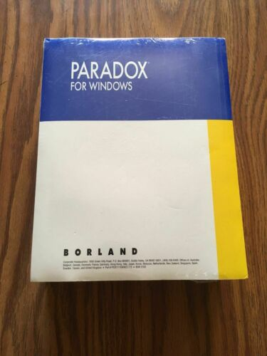 Paradox For Windows Boreland New sealed books only