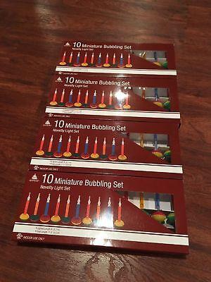 4 BOXES MINIATURE BUBBLE LIGHTS MINI XMAS TREE BUBBLING MIDGET LITE - Bubble Christmas Tree Lights