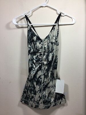 Ladies black & tan Lululemon workout tank size 2