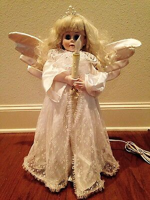 "MUSICAL ANIMATED ILLUMINATED CHRISTMAS ANGEL DOLL 24"" PLAYS 18 SONGS in BOX"