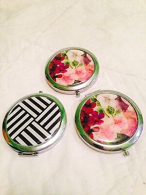 3 Compact Mirrors New With Tags (X3 Compact Mirrors) Free Shipping