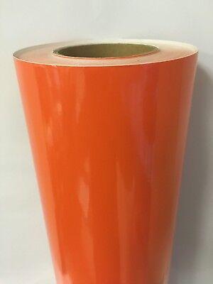 Orange Glossy Vinyl 12 X 150 Feet Plotter Cutter Liquidation Best Deal