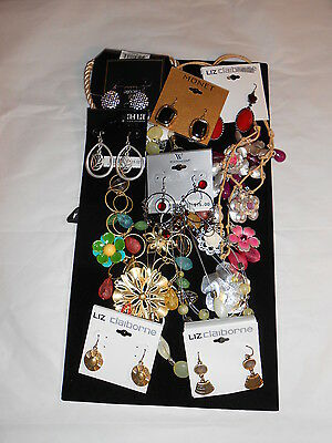 Liz Claiborne Monet Nicole A.N.A Huge Lot Fashion Earrings & Necklaces NWT