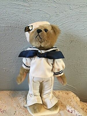 "BRASS BUTTON Bear CASEY 1999 12"" 20TH CENTURY Navy SAILOR clothes"