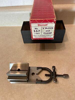 Vintage Ls Starrett 567 Toolmakers V Block With Clamp