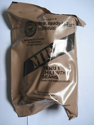 US MRE Menu 1, Chili with Beans, Army EPA Verpflegung, Notration, Tagesration
