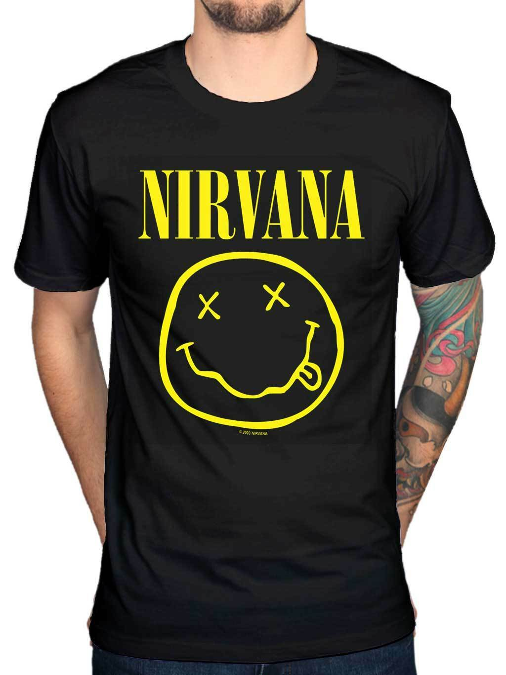 Nirvana smiley face shirt