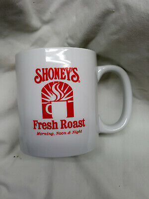 Vintage Shoney's Restaurant Fresh Roast Coffee Mug Cup Morning Noon Night