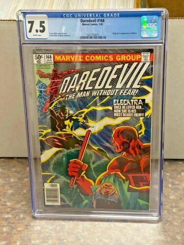 Daredevil #168 CGC Universal Grade 7.5 1981 Marvel Comics 1st Elektra!