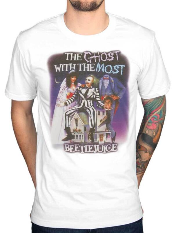 Ghost With The Most Men/'s T-Shirt S-XXL Sizes Officially Licensed Beetlejuice